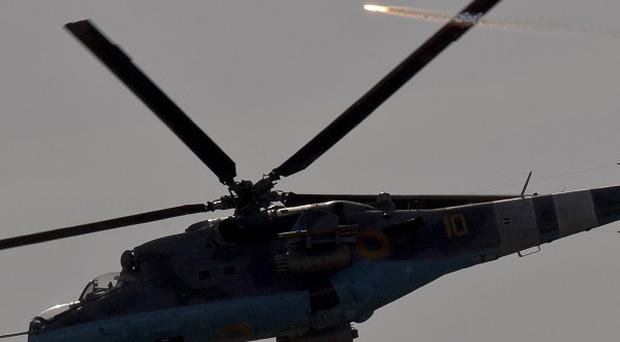 A Ukrainian military helicopter has reportedly been shot down (AP Photo/Vadim Ghirda)