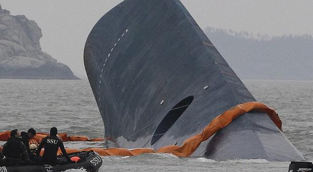 The ferry sank off the southern coast of South Korea (AP Photo/Ahn Young-joon)