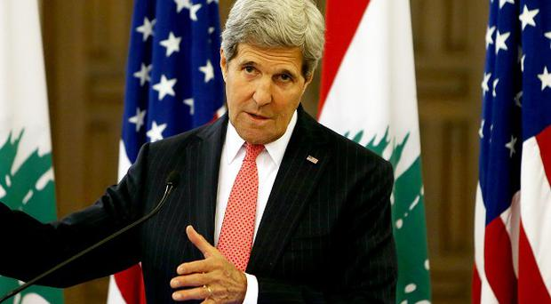 John Kerry has slammed the elections in Syria (AP)