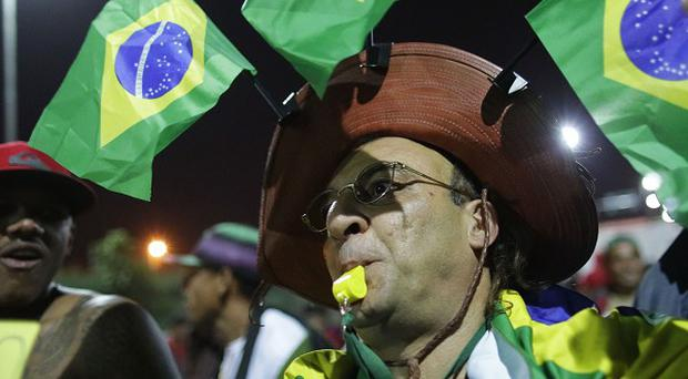 A protest against the money spent on World Cup preparations in Sao Paulo (AP)