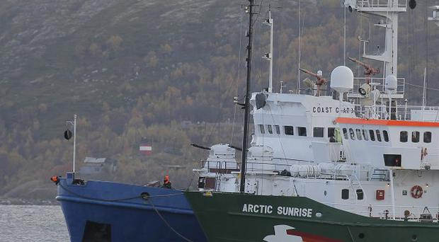 The Greenpeace ship Arctic Sunrise was seized by Russian authorities in September 2013 (AP)