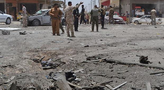 A bombing targeted the funeral of a Sunni university professor in the Iraqi city of Baqouba (AP)