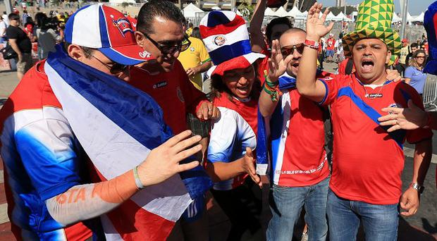 Fans outside Estadio Mineirao, Belo Horizonte, before England's match with Costa Rica