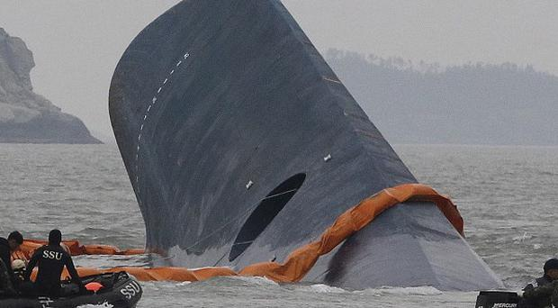 The Sewol sank in waters off the southern coast of South Korea in April (AP)