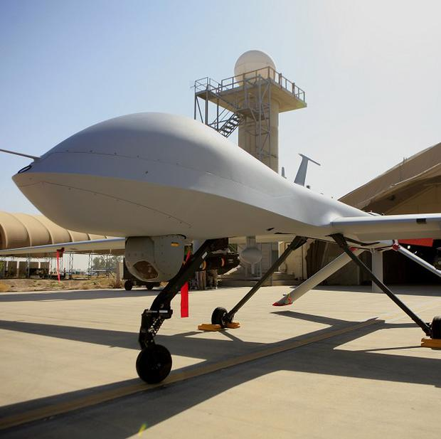 An MQ-4 Predator - the US has started flying armed drones over Baghdad (AP)