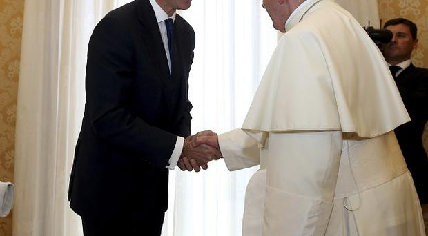 Pope Francis meets King Felipe VI of Spain and and Queen Letizia at the Vatican (AP/Alessandro Bianchi)