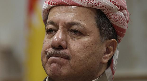 Massoud Barzani has called for an independence referendum for Kurds (AP Photo/Khalid Mohammed)