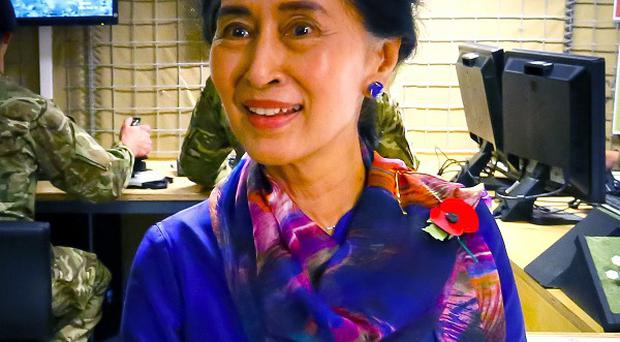 Aung San Suu Kyi says the violence in Mandalay could escalate if authorities do not take strong measures