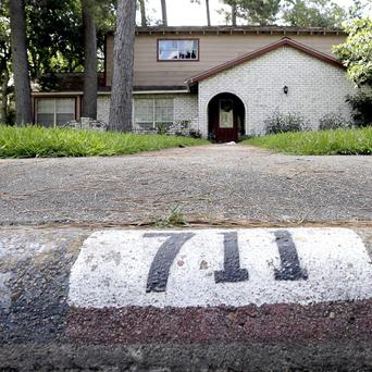 The home where a multiple shooting took place in Spring, Texas (AP/David J Phillip)