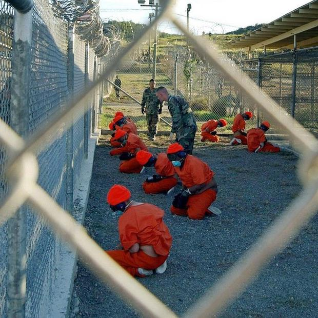A US Navy nurse has refused to force-feed prisoners on hunger strike at Guantanamo Bay, Cuba