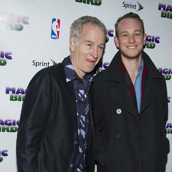 John McEnroe and his son Kevin arrive for a Broadway performance in New York (AP/Charles Sykes)