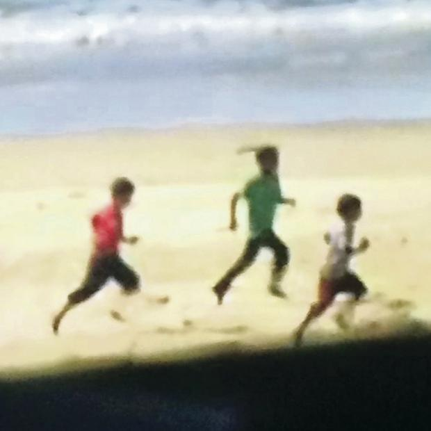 Pictures posted on social media show the boys running for their lives shortly before the attack that killed them