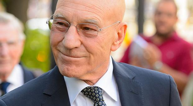 Sir Patrick Stewart plays Professor X in the X-men movies
