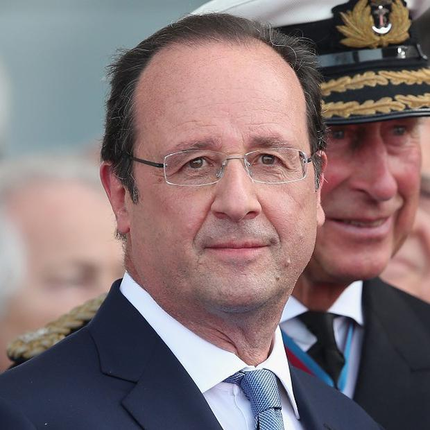 French President Francois Hollande spoke of his sadness after the accident