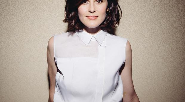 Downton Abbey star Michelle Dockery poses for a portrait during PBS press day in Beverly Hills, California (AP)