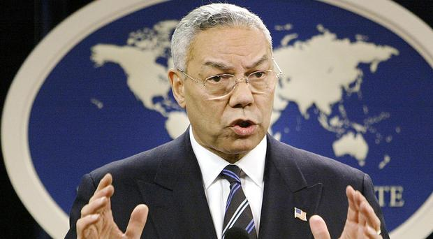A document circulating among White House staff says a Senate report on post 9/11 CIA interrogation and detention practices was kept from then US secretary of state Colin Powell (AP)