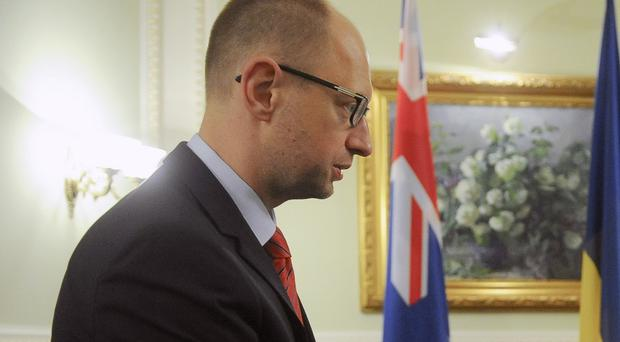 Arseniy Yatsenyuk said last week that he wanted to step down as prime minister (AP)