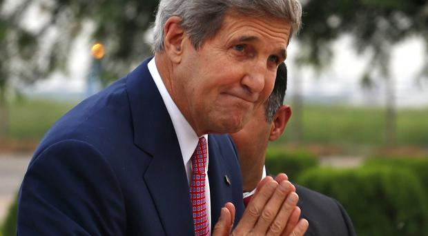 Pray this lasts - John Kerry has worked tirelessly to secure a Middle East ceasefire (AP)