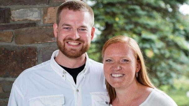 Ebola patient Dr Kent Brantly and his wife Amber (AP/Samaritan's Purse)