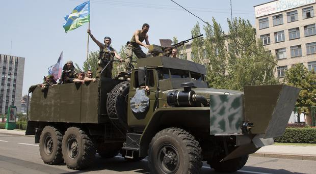 Pro-Russian separatists in eastern Ukraine have been battling the Kiev government since April (AP)
