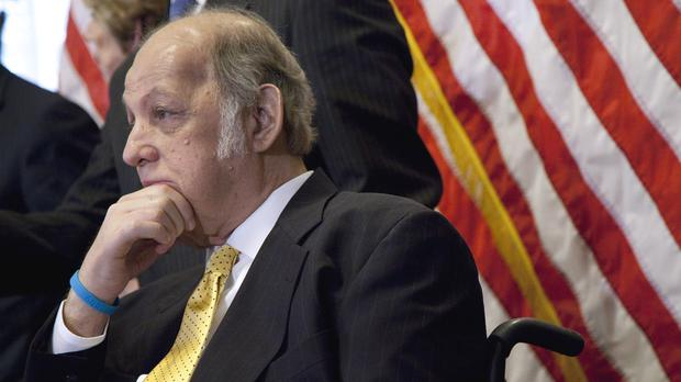 James Brady campaigned against gun control after he was injured in the assassination attempt on Ronald Reagan. (AP Photo/Evan Vucci)