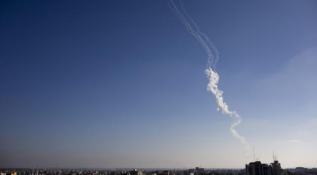 Two rocket fired from the Gaza Strip fell into an open area and caused no casualties, the Israeli army said (AP)