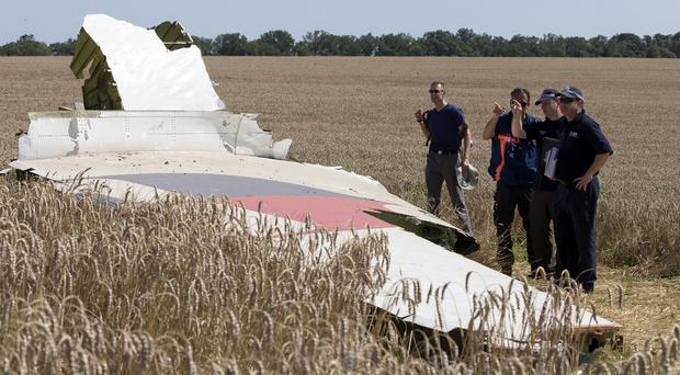 Malaysia Airlines flight 17 came down in the Donetsk region of eastern Ukraine in July (AP)