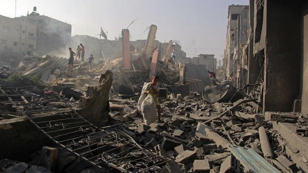 The current Gaza ceasefire ends at midnight local time (9pm GMT) (AP)