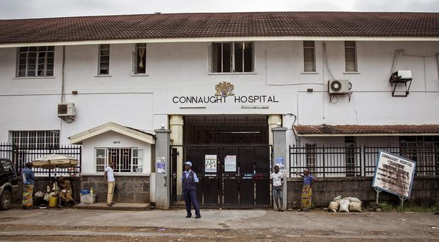 A top doctor died from Ebola at the Connaught Hospital in Freetown, Sierra Leone yesterday