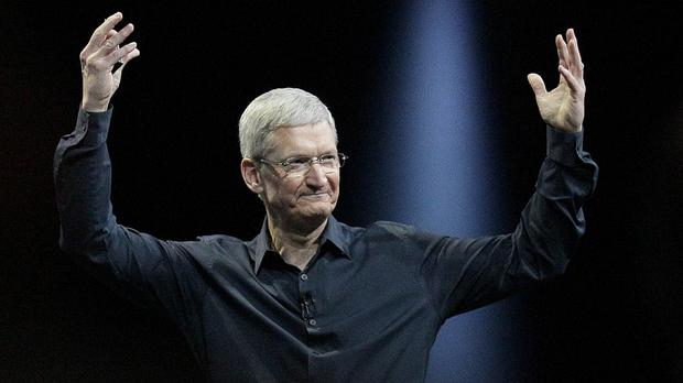 Apple's stock has nearly doubled since Tim Cook became CEO (AP)