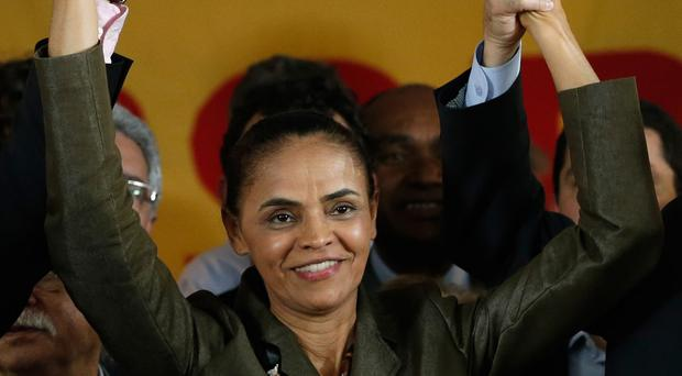 Marina Silva celebrates the launch of her candidacy for the presidential elections of Brazil (AP)