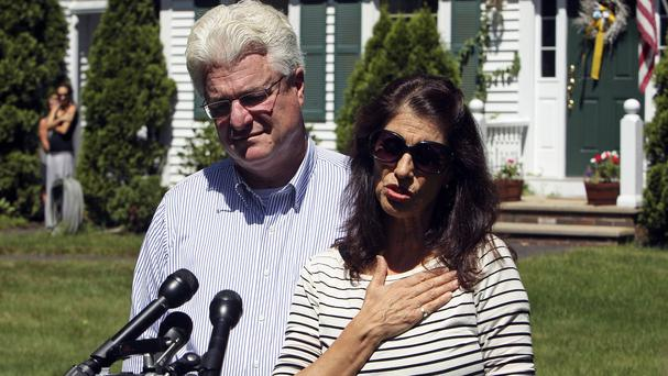 Ransom demands were reportedly emailed to Mr Foley's parents Diane and John Foley in New Hampshire (AP/Jim Cole)