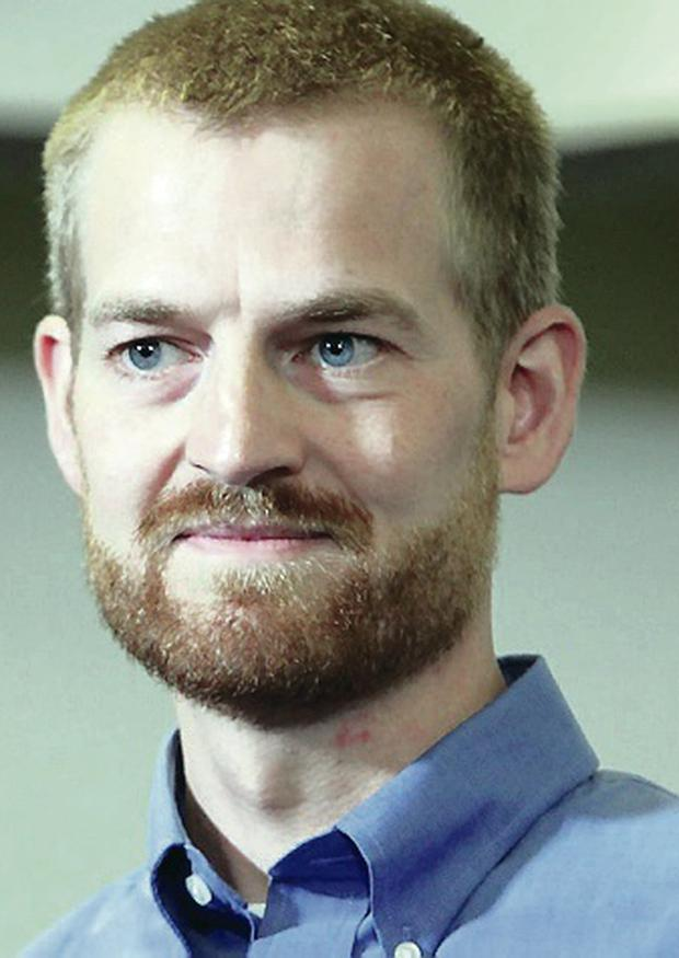 Dr Kent Brantly after he was declared free of the Ebola virus