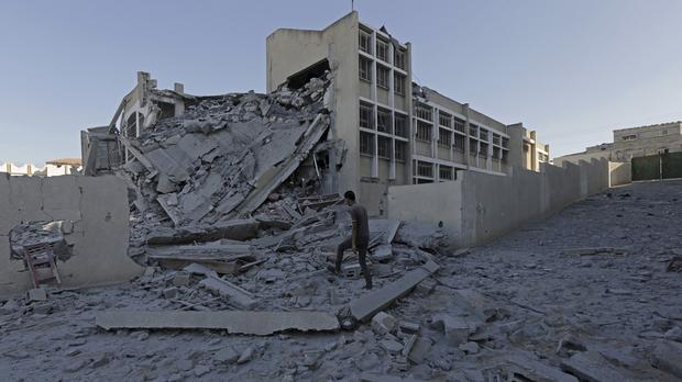 The latest conflict has devastated large parts of Gaza (AP)