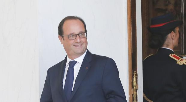 French president Francois Hollande made the announcement the day before the start of the Nato summit in Wales (AP)