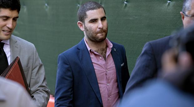 Charles Shrem walks from a New York court after pleading guilty (AP)