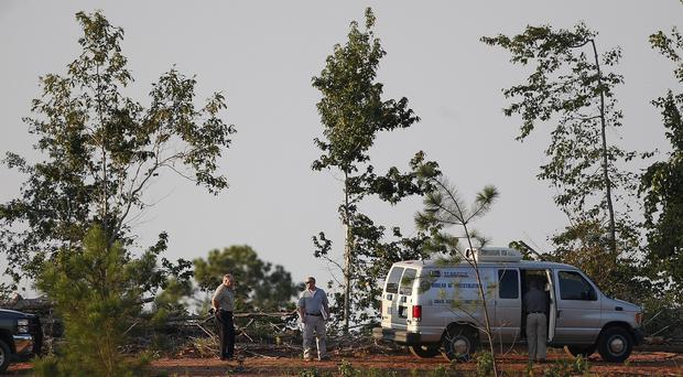 Authorities gather in Camden, Alabama (AP)