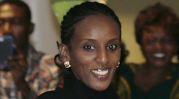Meriam Ibrahim said she refused to reject Christianity even though she faced a death sentence (AP)