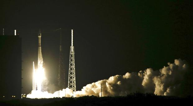 The rocket lifts off from Cape Canaveral Air Force Station (AP)
