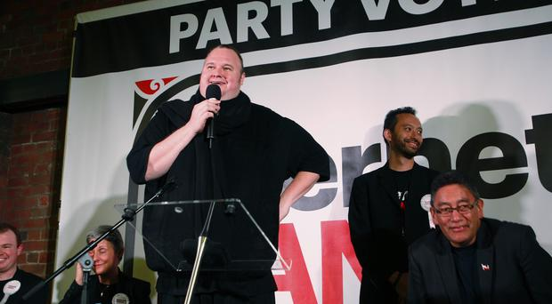 Controversial Internet entrepreneur Kim Dotcom is funding a party in the New Zealand general election (AP)