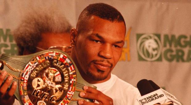 Mike Tyson played good Samaritan when he came to the aid of a man injured in a road crash in Las Vegas