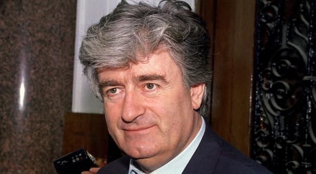 Radovan Karadzic, pictured in 1992, is facing a war crimes trial in the Hague