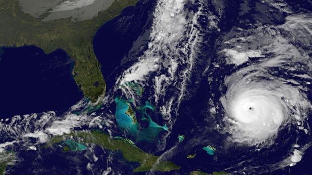Hurricane Gonzalo seen from a satellite image off the south-west of Bermuda (AP/NOAA). The biggest storm ever recorded in Northern Ireland battered Ireland in 1839, bringing hurricane force winds and leaving death and destruction in its wake