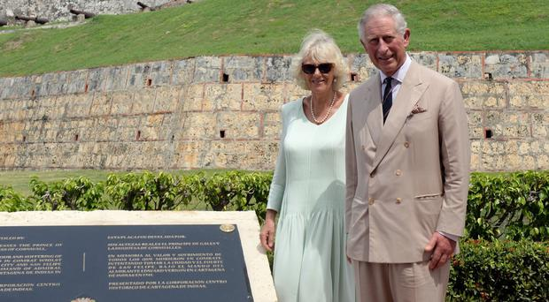 The Prince of Wales and the Duchess of Cornwall unveil the commemorative plaque