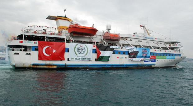 Eight Turks and one Turkish-American were killed when Israeli commandos stormed the Mavi Marmara in 2010 (PA/Palestine Solidarity Campaign)