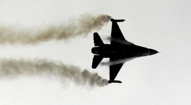 An American F-16 fighter jet is believed to have crashed in the Gulf of Mexico
