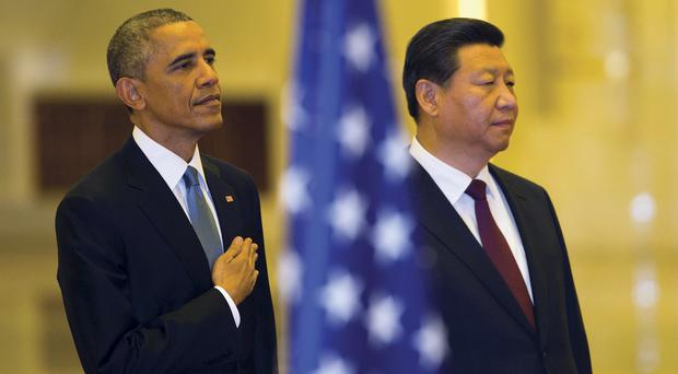 Barack Obama and Xi Jinping at the Apec summit. (AP)