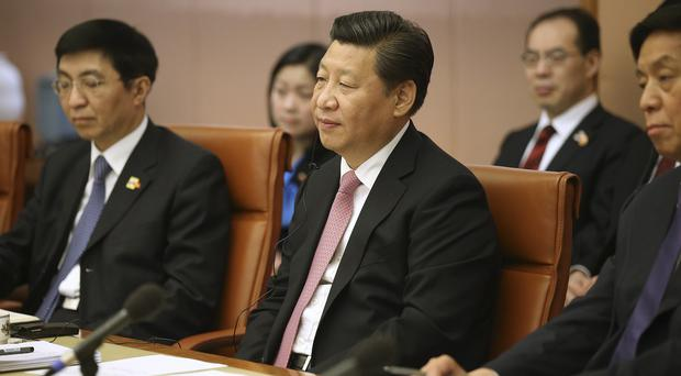 Chinese President Xi Jinping attends a ministerial meeting in Canberra as he continues his visit to Australia (AP)