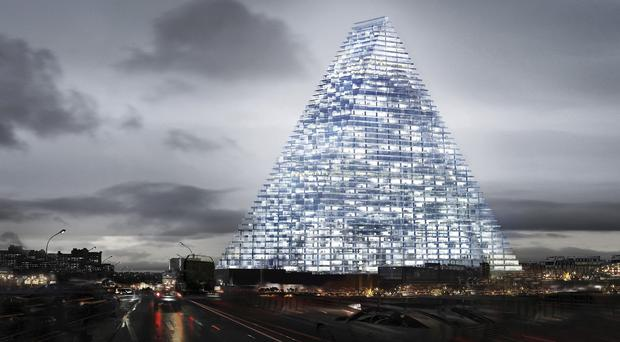 A computer image of how the Triangle Tower project in Paris would look (AP/Herzog & de Meuron)