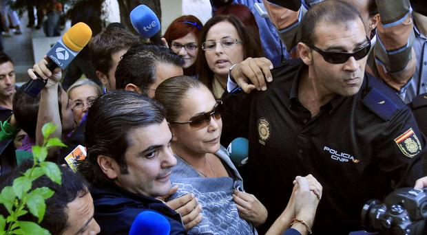 Isabel Pantoja now faces a spell in prison (AP)